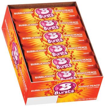 Bubblicious Rolls Bubblicious Bursts Mango Peach Bubble Gum 12 Pk Pack