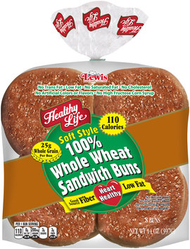Healthy Life® Soft Style 100% Whole Wheat Sandwich Buns