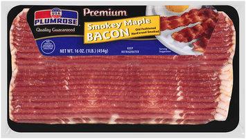 Plumrose® Premium Hardwood Smoked Smokey Maple Bacon 16 oz. Package