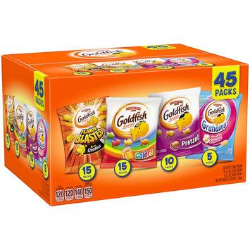 Pepperidge Farm® Goldfish® Flavor Blasted Xtra Cheddar/Cheddar Colors/Pretzel/Grahams Vanilla Cupcake Baked Snack Crackers 45 ct Pack