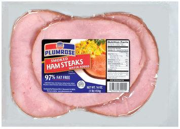 Plumrose Smoked 97% Fat Free Ham Steaks 16 Oz Package