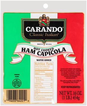 Carando® Classic Italian® Hot Cooked Ham Capicola 16 oz.