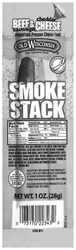 Old Wisconsin® Smoke Stack Beef Sausage & Cheddar Cheese 1 oz. Pack