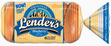 Lender's Frozen Original Blueberry 6 Ct Bagels 12 Oz Bag