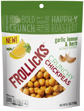 Frollicks™ Garlic Lemon & Herb Crunchy Chickpeas 6.1 oz. Pouch