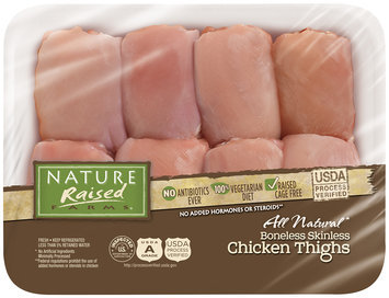 Nature Raised Farms® All Natural Boneless Skinless Chicken Thighs Pack