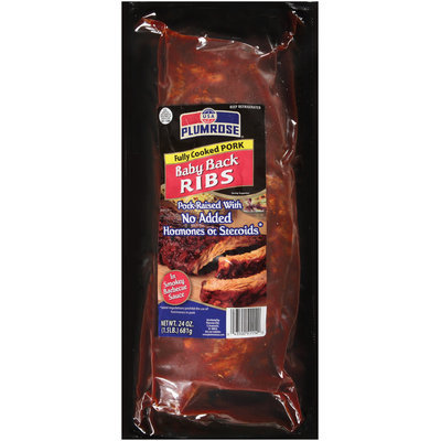 Plumrose In Smokey Barbecue Sauce Ribs Baby Back 24 Oz Package