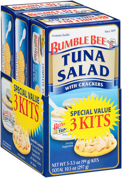 Bumble Bee® Tuna Salad with Crackers 3 Kits 10.5 oz. Package