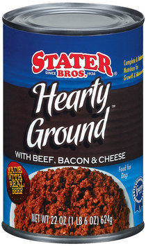 Stater Bros. Hearty Ground With Beef, Bacon & Cheese Dog Food 22 Oz Can