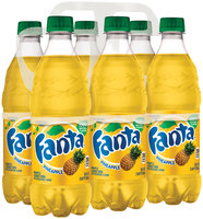 Fanta® PIneapple Soda 6-16.9 fl. oz. Plastic Bottles