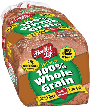 Healthy Life® 100% Whole Grain Soft Style Bread