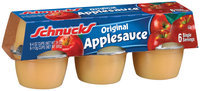 Schnucks Original Single Servings Apple Sauce 6 Ct Cups