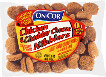 On-Cor® Breaded & Cooked Chicken & Cheddar Cheese Nibblers 30 oz. Bag