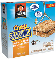 Quaker Life® Snackwich™ Peanut Butter & Chocolate Chips Snack Bars