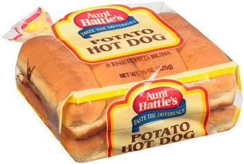 Aunt Hattie's® Potato Hot Dog Enriched Buns 8 ct Bag