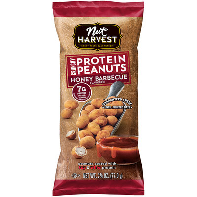 Nut Harvest® Honey Barbecue Crunchy Protein Peanuts 2.75 oz. Bag