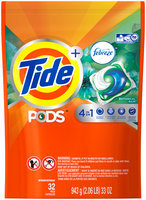 Tide PODS Plus Febreze Odor Defense Laundry Detergent Pacs, Botanical Rain Scent, 32 loads, Designed For Regular and HE Washers