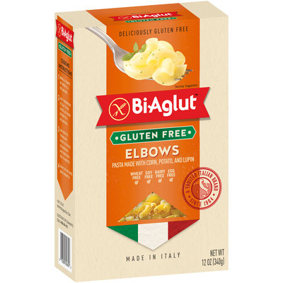 BiAglut™ Elbows Pasta made with Corn, Potato, and Lupin 12 oz. Box