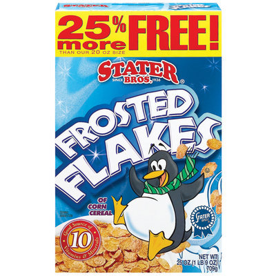 Stater Bros. Frosted Flakes Cereal 25 Oz Box
