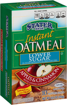Stater Bros.® Lower Sugar Apples & Cinnamon Instant Oatmeal 10 ct Box