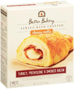 Better Bakery Company Turkey, Provolone & Smoked Bacon Cheesy Melts