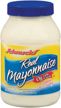 Schnucks Real Mayonnaise 30 Fl Oz Plastic Jar