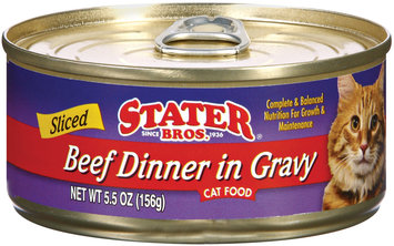 Stater Bros. Sliced Beef Dinner In Gravyy Cat Food 5.5 Oz Can