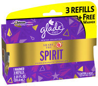 Glade® PlugIns® Share The Spirit™ Scented Oil Refill Air Freshener 3 ct Packs