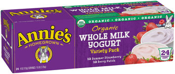 Annie's® Organic Whole Milk Summer Strawberry/Berry Patch Yogurt Variety Pack 24-4 oz. Cups