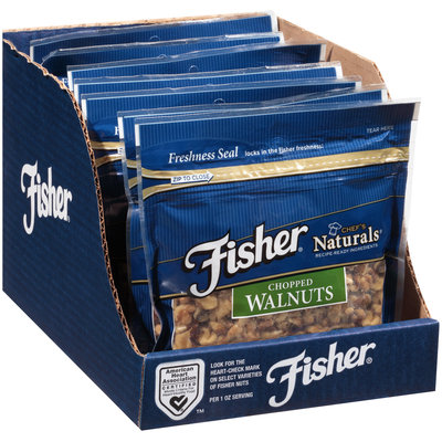 Fisher® Chef's Naturals® Chopped Walnuts 10 oz. Bag