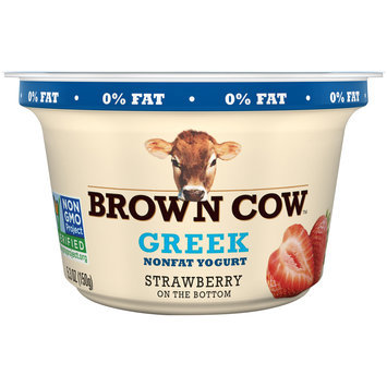 Brown Cow™ Strawberry on the Bottom Greek Nonfat Yogurt 5.3 oz. Cup