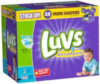 Stretch Luvs Utra Leakguards Size 2 Value Pack 160 count