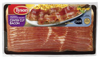 Tyson Center Cut Hardwood Smoked 30% Less Fat Bacon 12 Oz Package