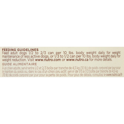 Nutro® Large Breed Adult Weight Management Tender Chicken & Rice Recipe Chunks in Gravy Dog Food 12.5 oz. Can