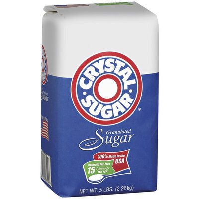 Crystal Sugar Granulated Sugar 5 Lb Bag