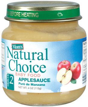Mom's Natural Choice Baby Food Applesauce 4 oz Jar