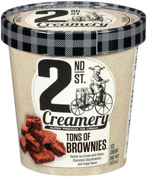 2nd St. Creamery™ Tons of Brownies™ Ice Cream 1 pt. Cup
