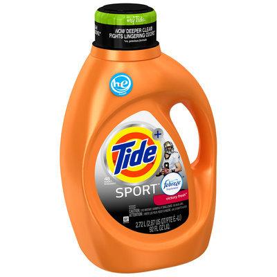 Tide Plus Febreze Freshness™ Sport Victory Fresh Scent High Efficiency Liquid Laundry Detergent