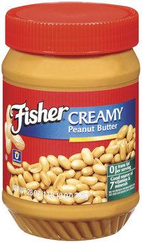 Fisher Peanut Butter Creamy Peanut Butter 28 Oz Plastic Jar