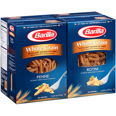 Barilla® Whole Grain Penne/Rotini Pasta Variety Pack 4-13.25 oz. Boxes