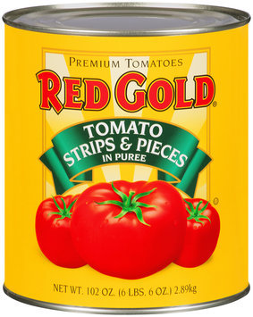 Red Gold® Tomato Strips & Pieces in Puree 102 oz. Can