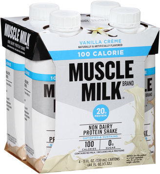 Muscle Milk® Vanilla Creme 100 Calorie Non Dairy Protein Shake 4-11 fl. oz. Cartons