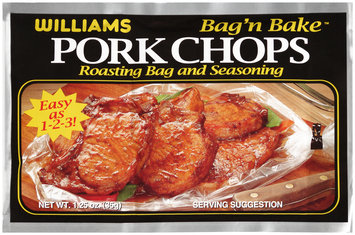 Williams Bag 'n Bake™ Pork Chops Roasting Bag and Seasoning 1.25 oz. Packet