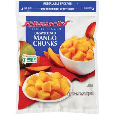 Schnucks Unsweetened Freshly Frozen Mango Chunks 12 Oz Bag