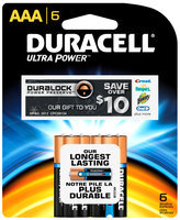 Duracell Ultra Power AAA Batteries 6 ct Pack