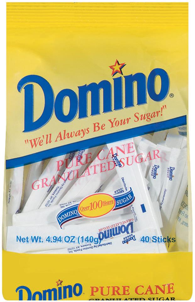 Domino Pure Cane Granulated Sugar Sticks