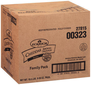 Eckrich® Skinless Cheddar Smoked Sausage 39 oz. Pack