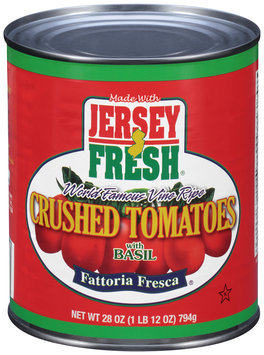 Jersey Fresh® Fattoria Fresca® Crushed Tomatoes with Basil 28 oz. Can