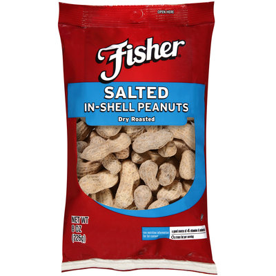 Fisher® Salted In-Shell Dry Roasted Peanuts 8 oz. Bag