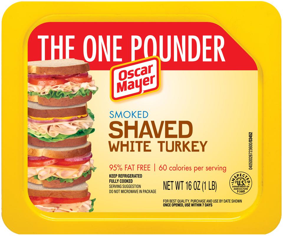Oscar Mayer Smoked Shaved White Turkey Cold Cuts 16 oz. Tray